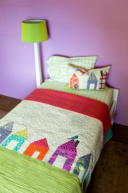Wonky Little Houses Quilt Pattern eclectic kids bedding