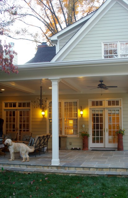 Family Room and Covered Porch Addition traditional porch