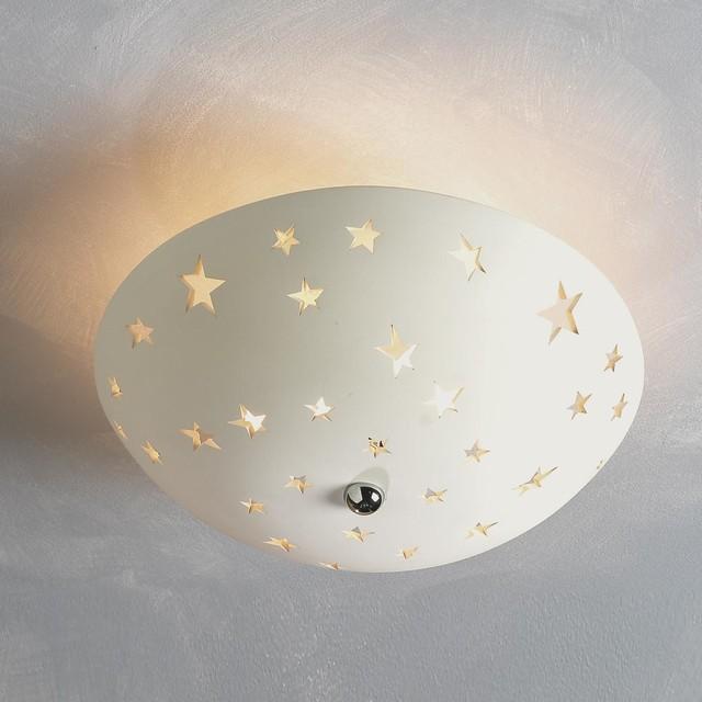 Star ceramic cutout ceiling light flush mount ceiling - Star ceiling lights for kids ...