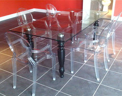 Rocca Table -  Black and White Lacquer Table  dining room