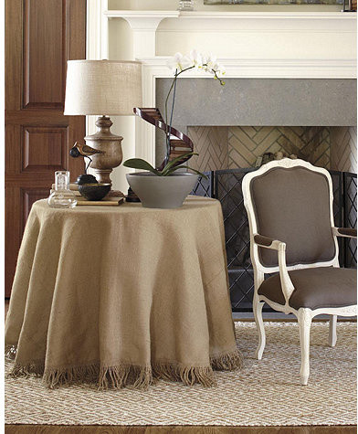 84 inch Fringed Tablecloth traditional-tablecloths