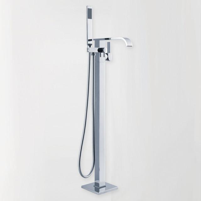 clawfoot floor mounted faucet for freestanding bathtubs