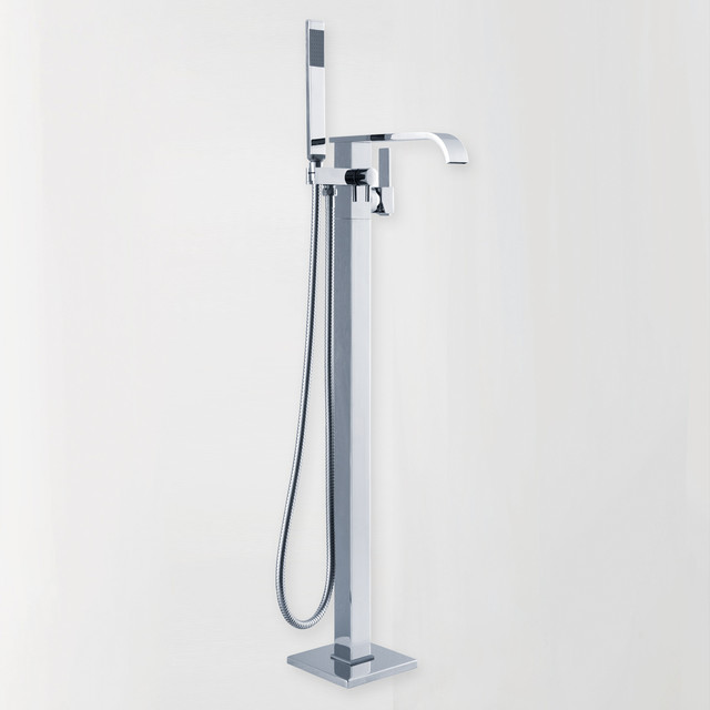 Clawfoot Floor Mounted Faucet For Freestanding Bathtubs Modern Bathroom F