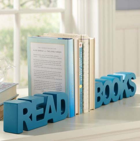 Read Books Word Bookends contemporary-bookends