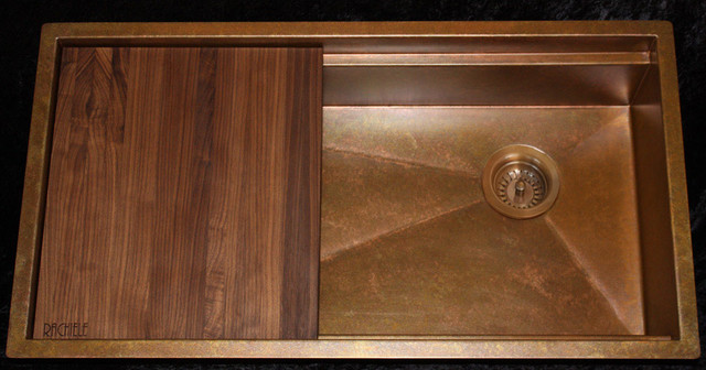 Signature series copper under mount sink by rachiele for Rachiele sink complaints
