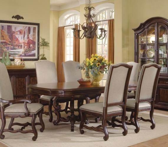 Double Pedestal Dining Room Table: Coronado 5 Piece Double Pedestal Dining