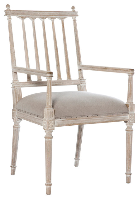 Antique White Dining Room Furniture: Coyle Shabby French Antique White Dining Arm Chair