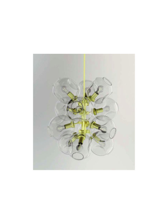 Lindsey Adelman 12 Globe Stacking Bubble Chandelier -