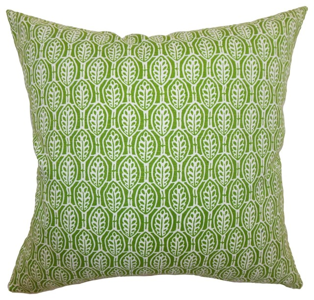"Dale Floral Pillow Green 18"" x 18"" traditional-decorative-pillows"