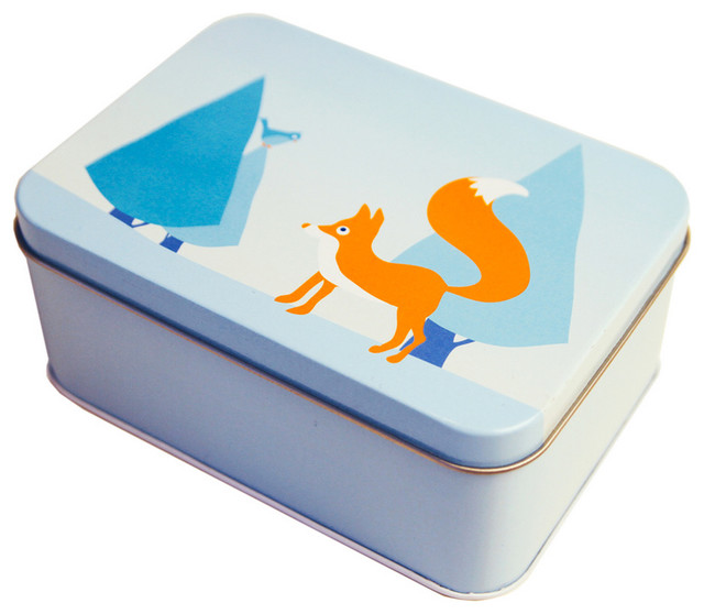 Rectangular Fox Tin contemporary-storage-bins-and-boxes