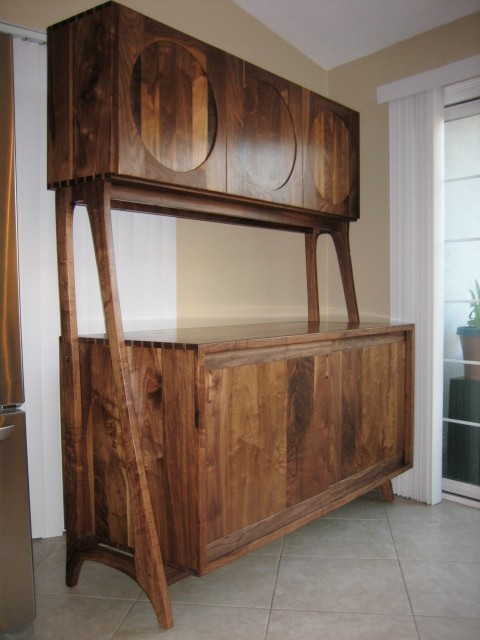 Midcentury Modern Walnut Kitchen Hutch - Midcentury - China Cabinets And Hutches - other metro ...