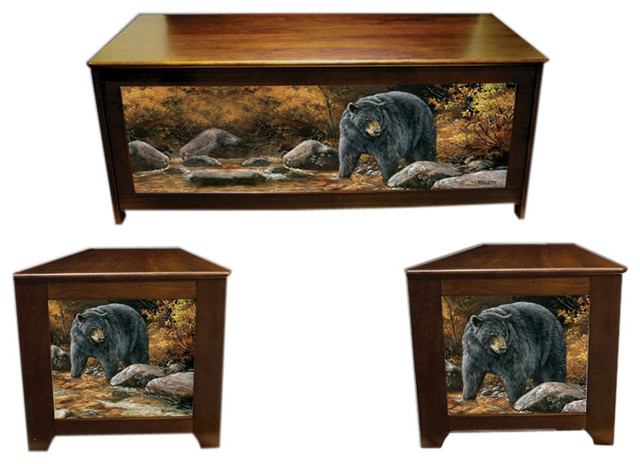 Blanket chest - Streamside Bear - Rustic - Accent Chests And Cabinets - by Kelsey's Collection, Inc.