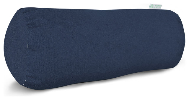 Modern Bolster Pillows : Outdoor Navy Blue Solid Round Bolster - Modern - Outdoor Cushions And Pillows - by Majestic Home ...