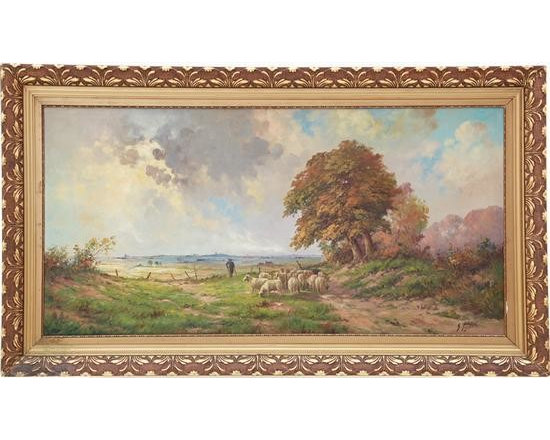 Current Inventory for Purchase - Landscape with Shepard and his Sheep