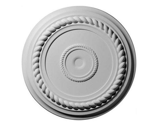 Ekena 19-5/8 in. Alexandria Rope Ceiling Medallion-CM18AL at The Home Depot -