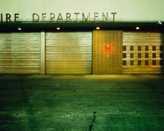 """Fire Station - C-print, unmanipulated transparency film image, 20""""x30"""" image size, 24""""x34"""" paper size, edition of three c-prints, edition of three pigment prints. Signed, numbered and captioned in ink on the verso."""