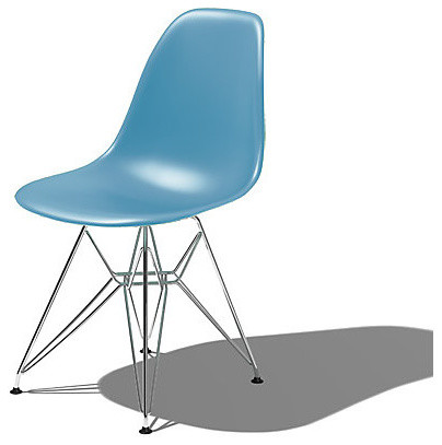 Eames Molded Side Chair with EiffelTower Base | Smart Furniture midcentury-dining-chairs