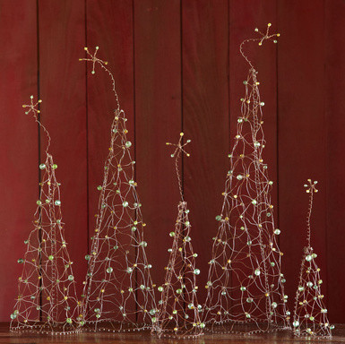 Wirework Holiday Forest, Set of 5 modern-holiday-decorations