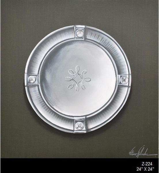 Zentique Art-Antique Silver Plates traditional-home-decor