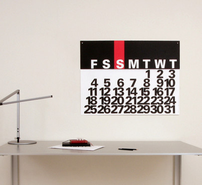 Calendreco Perpetual Wall Calendar - modern - desk accessories