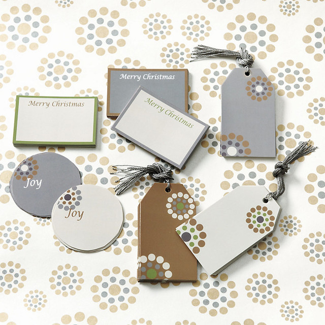 Suzanne Kasler Classic Winter Gift Tags & Labels traditional