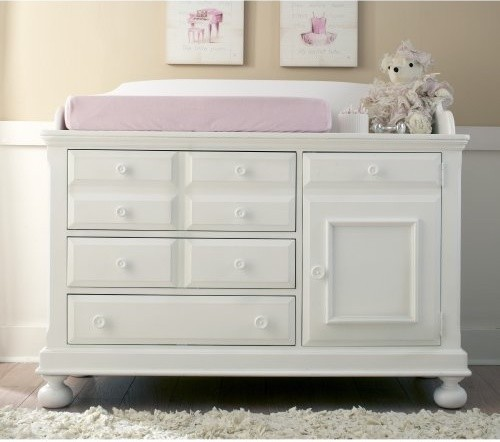 creations baby summers evening combo dresser rubbed white traditional changing tables by