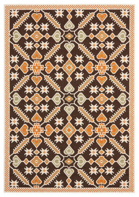 "Helen Outdoor Area Rug - 2'7"" x 5' traditional-outdoor-cushions-and-pillows"
