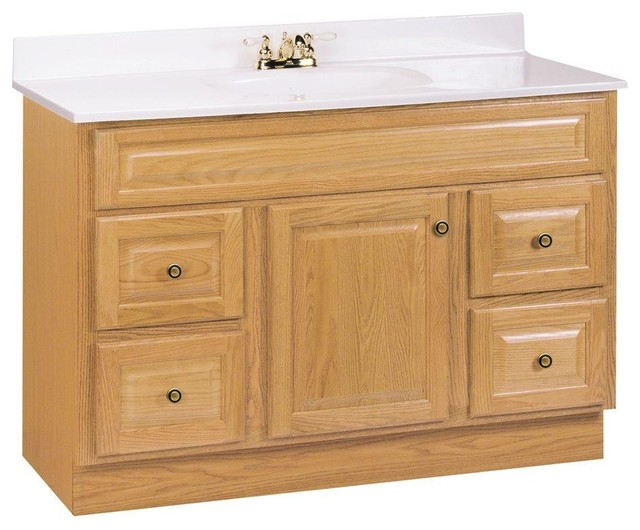 Glacier Bay Cabinets Hampton 48 in. W Vanity Cabinet Only in Oak brown HOA48DY - Contemporary ...