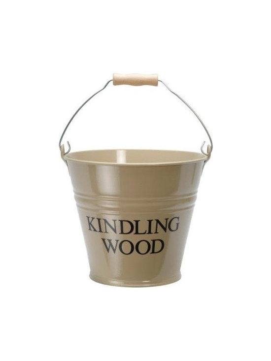 Clay Enamel Kindling Wood Metal Bucket -