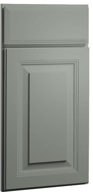 Carlton harbor gray paint shaker kitchen cabinet sample for Samples of painted kitchen cabinets