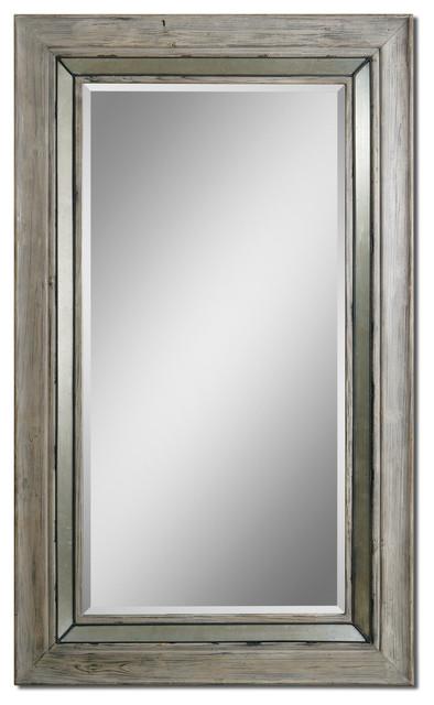 Travon Wood Mirror traditional-mirrors