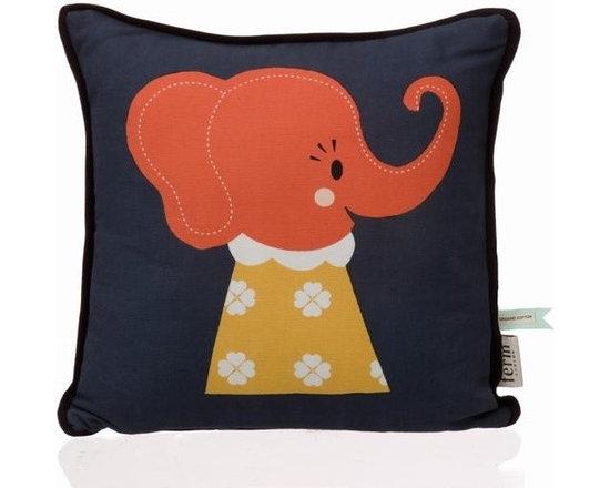 Ferm Living Organic Elle Elephant Pillow - http://www.houseandhold.com/ferm-living-organic-elle-elephant-pillow.html