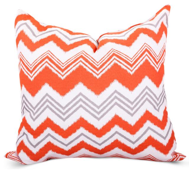 Outdoor Orange Zazzle Pillow Modern Outdoor