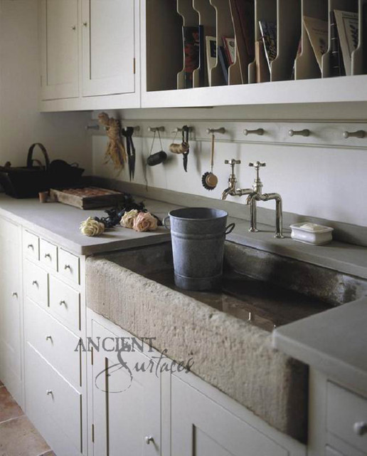 Kitchen Stone Sinks : Mediterranean Kitchen Stone Sink - Mediterranean - Kitchen Sinks - new ...