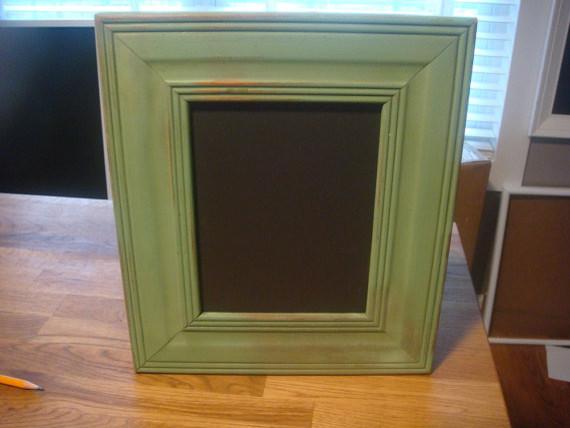 Chalkboard distressed spring green by posh pilfer for Modern cork board