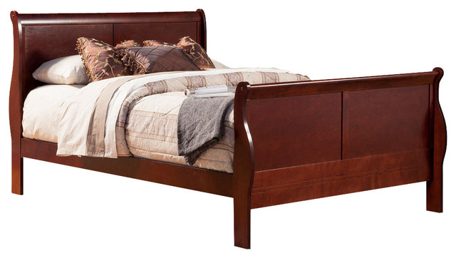 Louis Philippe II East King Sleigh Bed contemporary-bedroom-furniture-sets
