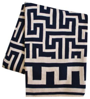 Greek Key Throw Blanket modern throws