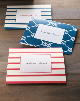 Boatman Geller 50 Knot Cards with Personalized Envelopes traditional-desk-accessories