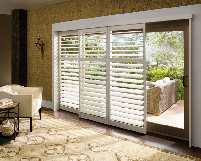 Plantation Shutters for Sliding Glass Patio Doors 640 x 512
