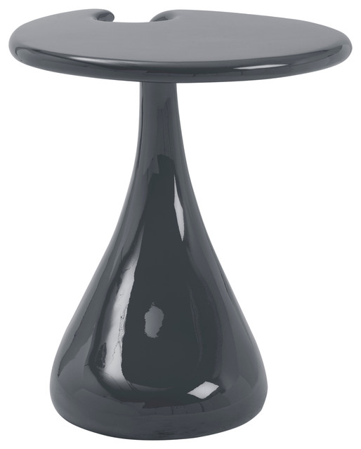 Galan Side Table - High Gloss Black - Modern - Side Tables And End ...