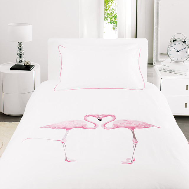 Flamingo Duvet Set Single Contemporary Duvet Covers Sets By Dwell