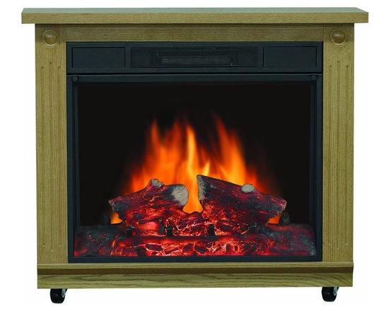 "Belleville Electric Mobile Fireplace - Dimensions: 26.25""H x 31.875""W x 11.875""D"