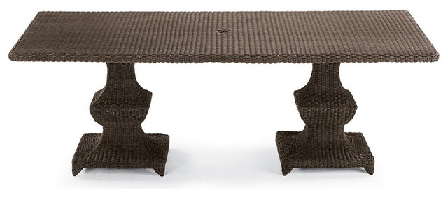 Monterey Rectangular Outdoor Dining Table - Frontgate, Patio Furniture traditional-dining-tables