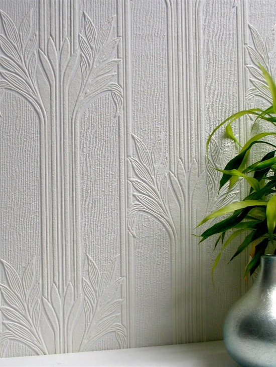 Analypta Paintable Wallpaper - Wildacre - Dress up walls with textured, paintable wallpaper called Wildacre. This pattern, Seymour is available at AmericanBlinds.com.