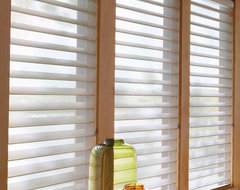 Silhouette® Quartette® window shadings with UltraGlide® contemporary cellular shades