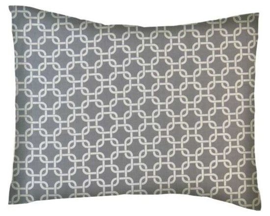 SheetWorld - SheetWorld Twin Pillow Case - Percale Pillow Case - Grey Links - Made in USA - Pillow case is made of a durable all cotton percale/woven material. Fits a standard twin size pillow. Side Opening. Features a grey links print.