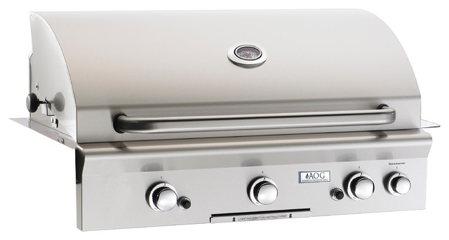 Built-in LP Grill with 648 sq. in. Cooking Surface and Backburner contemporary-outdoor-grills
