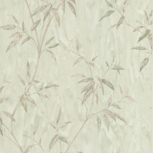 Light Green Bamboo Textured Wallpaper - Asian - Wallpaper ...