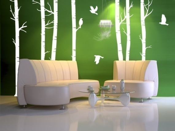 Vinyl Wall Decal Forest with BirdsHome Decor Murals by WowWall eclectic-wall-decals