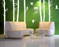 Vinyl Wall Decal Forest with BirdsHome Decor Murals by WowWall eclectic-decals